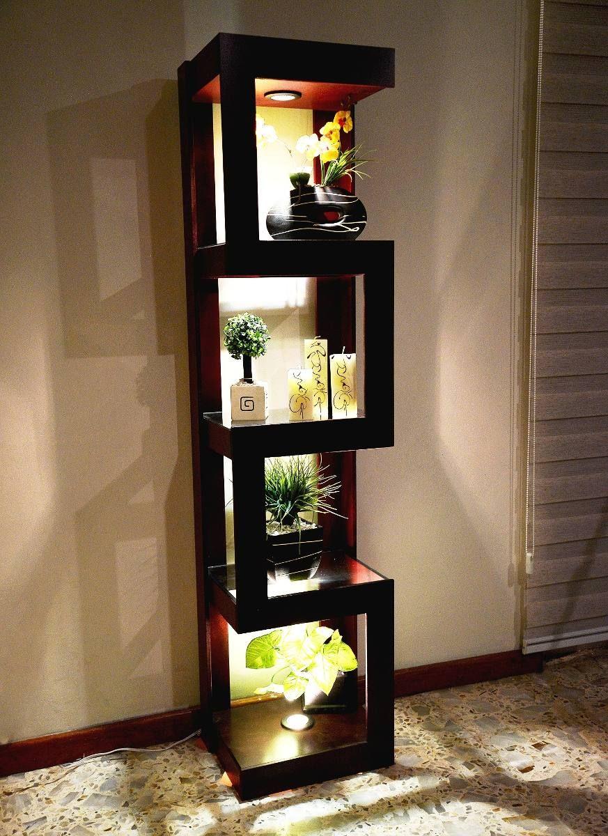 Mueble esquinero con luz de madera mdf lamparas for Mueble esquinero salon