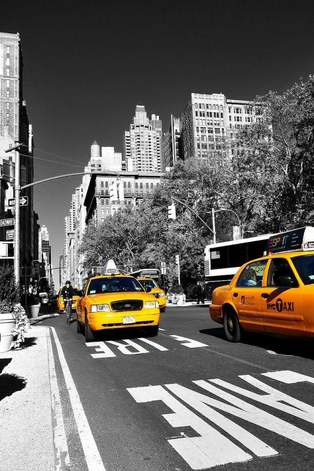 Yellow Cabs Nyc New York Taxis Y El Taxi
