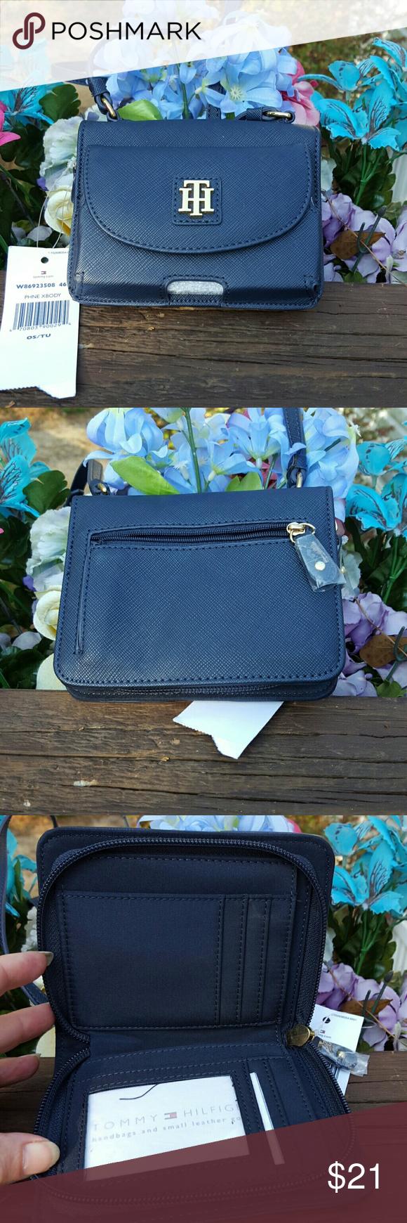 Purse Tommy Hilfiger shoulder strap purse navy Tommy Hilfiger  Bags Mini Bags