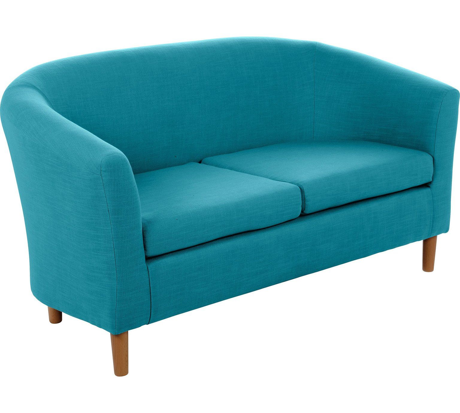 Buy HOME 2 Seater Fabric Tub Sofa - Teal at Argos.co.uk, visit Argos ...