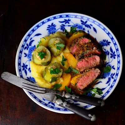 lostpastremembered: Osterley Park and Lamb Loin with a Breaded Mushroom Crust