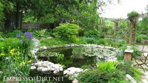 20 Backyard Garden Ponds for All Budgets | Pinterest | Garden ponds ...