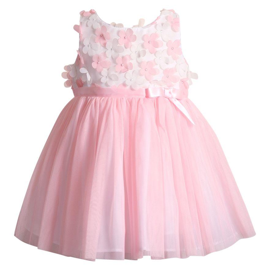 d01d2f119aa3 Girls 4-6x Youngland 3D Floral Dress, Size: 6X, White Pink