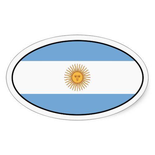 Argentina Flag Oval Sticker Zazzle Com Argentina Flag Print Stickers Custom Stickers