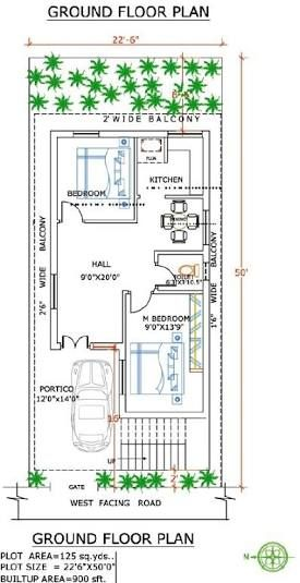 Image Result For West Facing House Plans In 120 Sq Yards West Facing House 30x40 House Plans My House Plans