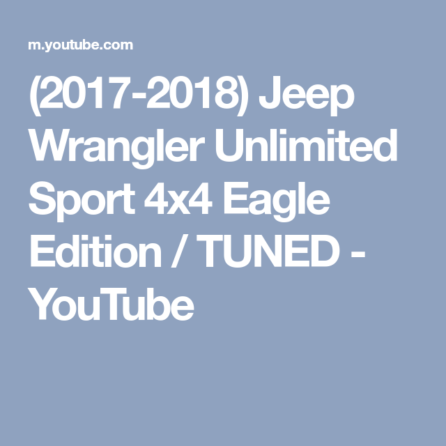 (2017-2018) Jeep Wrangler Unlimited Sport 4x4 Eagle