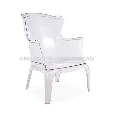 Modern+Designer+Clear+Acrylic+Ghost+Wingback+Accent+Arm ...