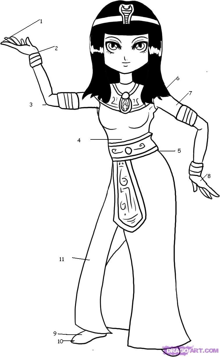 Resultado de imagen de imagenes de cleopatra para colorear | egipcio ...