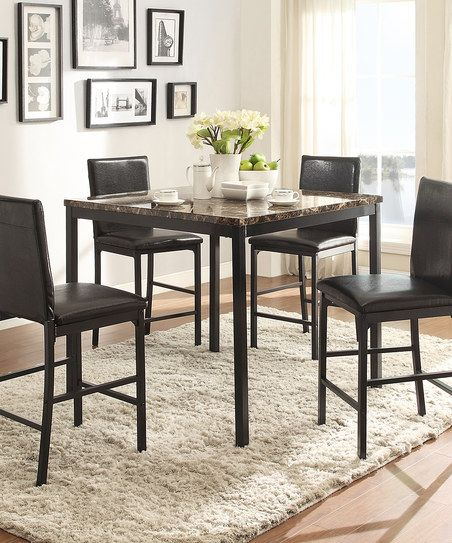 HomeBelle Lozano Five-Piece Counter-Height Dining Set | zulily ...