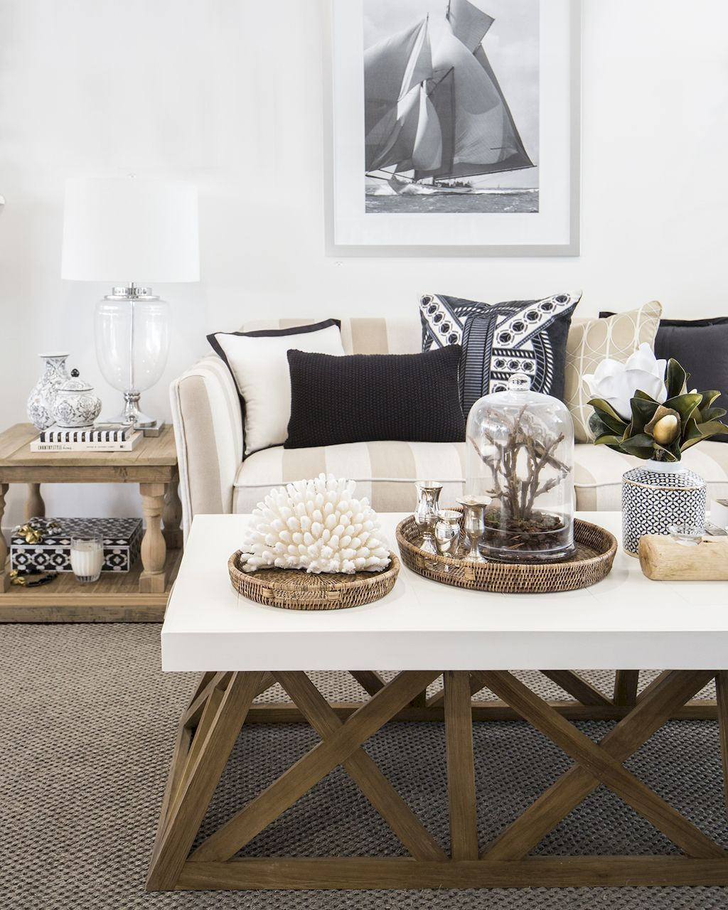 Cozy coastal living room decorating ideas (23) | Coastal living ...