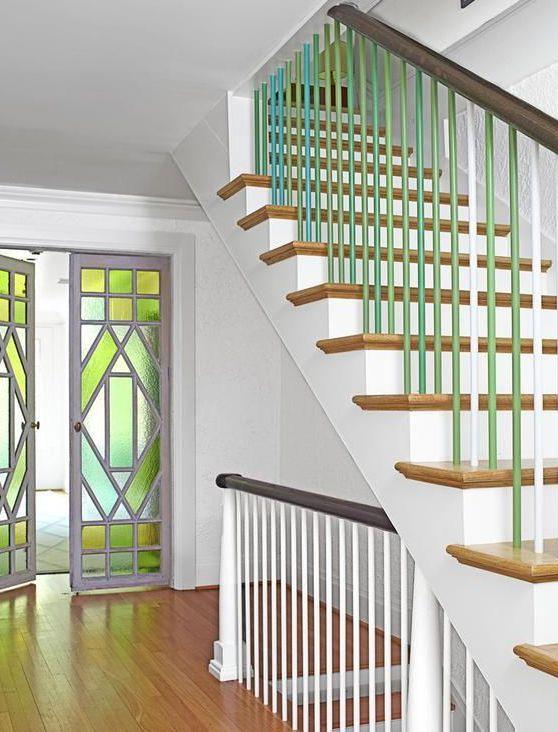Geländer Streichen In Grün | Ideen Rund Ums Haus | Pinterest