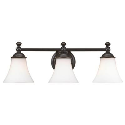 Hampton Bay Crawley 3 Light Oil Rubbed Bronze Vanity Light AD065 W3