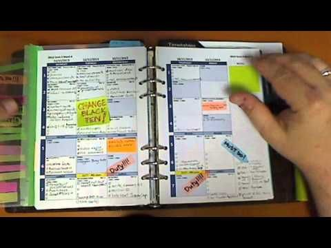 using a filofax as a teacher daily planner youtube office