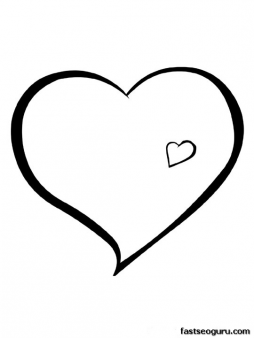 Print Out Valentines Day Hearts Coloring Pages Printable Coloring
