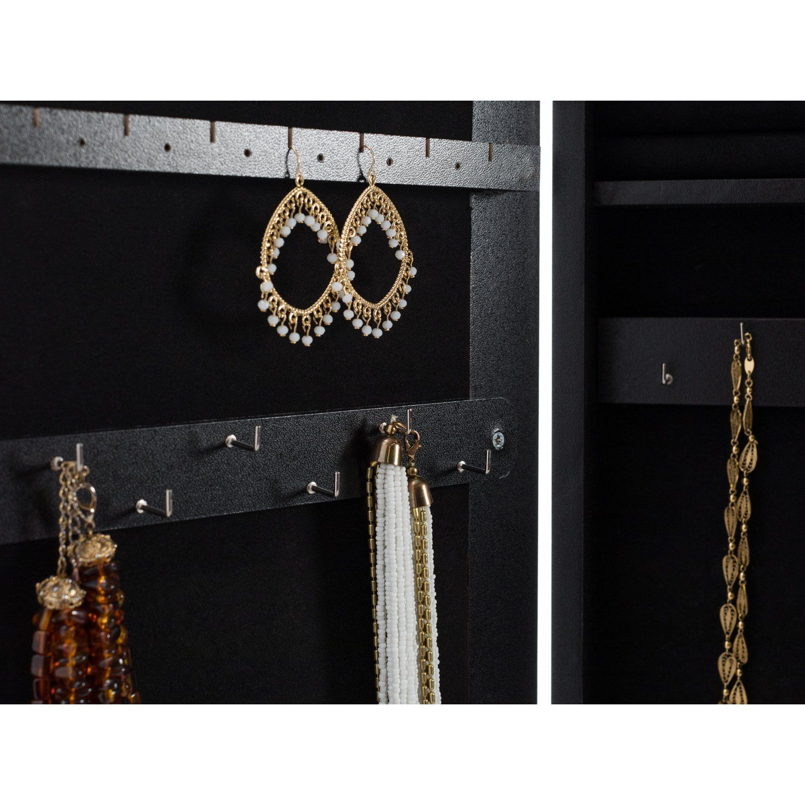 39+ Mainstays mirrored cheval jewelry armoire white info