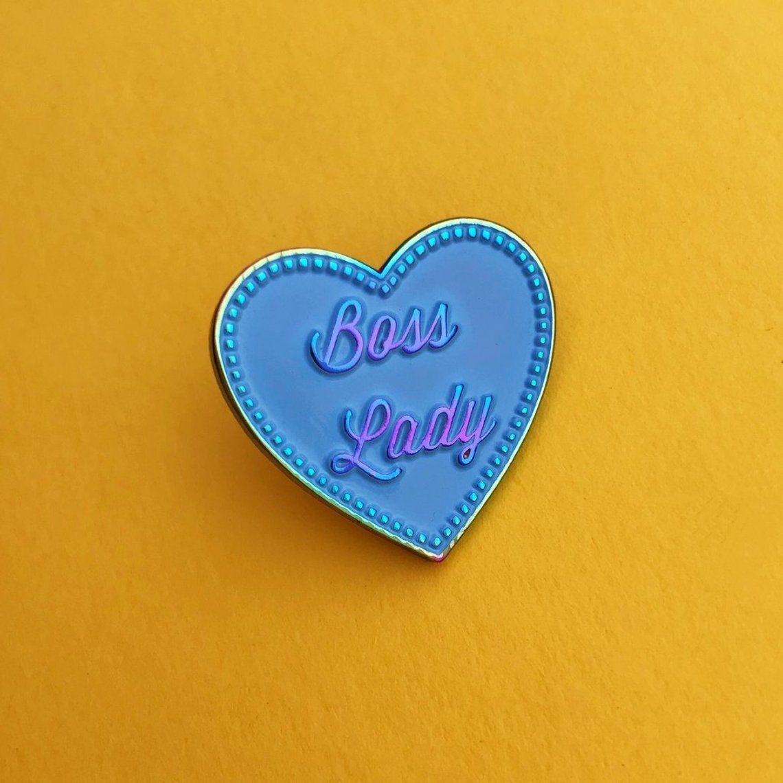 Boss Lady Rainbow Plated Pastel Enamel Lapel Pin Badge   Etsy