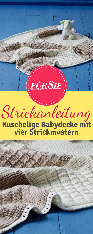 Kuschelige Babydecke #strickanleitungbaby Diese Decke wird durch seine vielfält...