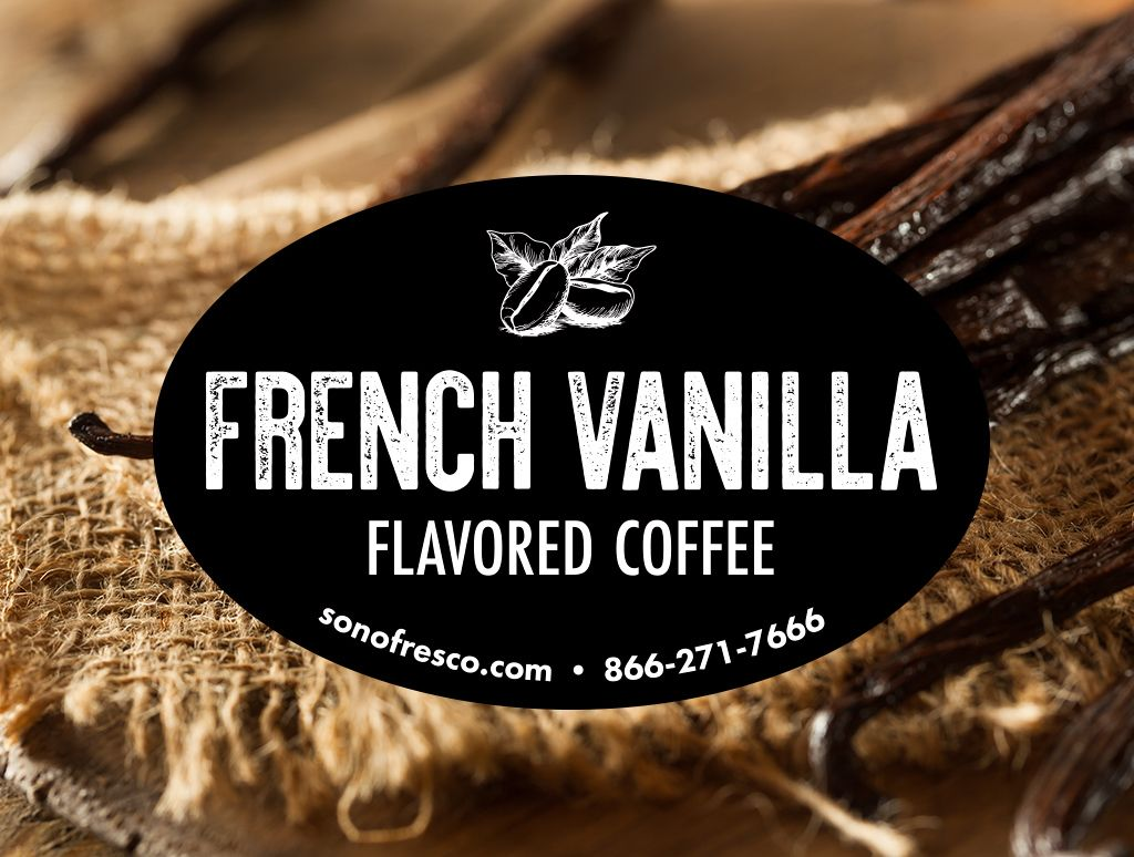 French vanilla flavored coffee whole bean for sale