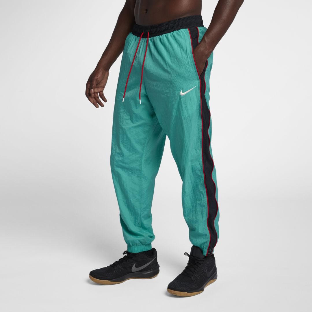 439aa6b2b43ca Nike Throwback Men's Woven Tracksuit Basketball Pants Size 2XL (Kinetic  Green)