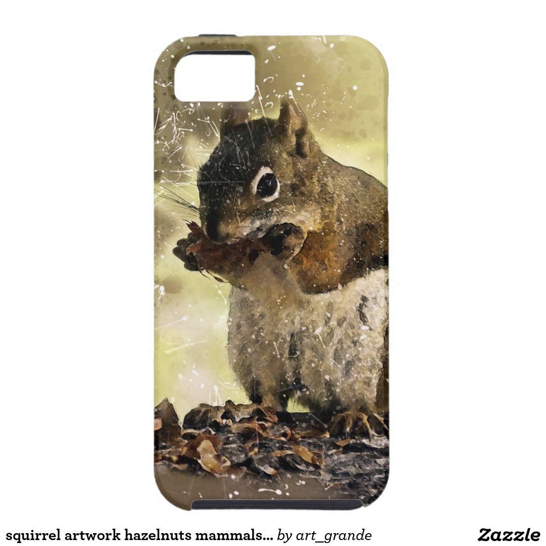 squirrel artwork hazelnuts mammals animals iPhone SE/5/5s case