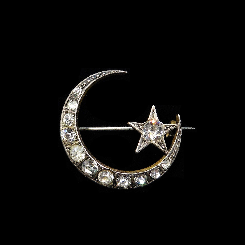 VINTAGE Moon /& Star PIN
