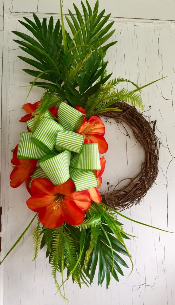 Image Result For Door Wreath Tropical Things To Do House Summer