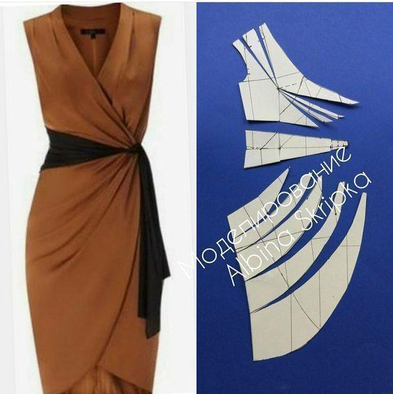 Photo of Musterentwurf, Designer-Kleidung, Diy-Kleid, Wickelkleid, Schnittmuster für Kleider, C …