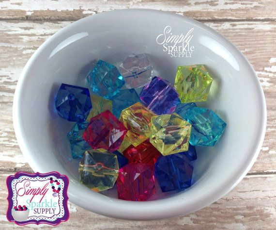Color Mix Transparent 20 mm wholesale by SimplySparkleSupply, $3.00
