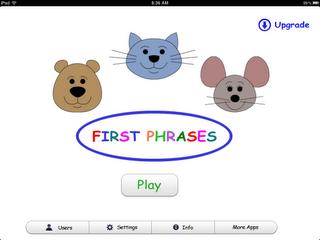 Liz's Speech Therapy Ideas: First Phrases - iPad App Review   #APP #earlyinterventionspeechtherapy #Ideas #iPad