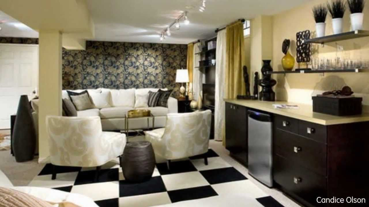 Living Room Design Ideas, Basement Makeovers From Candice Olson
