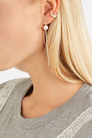 Hirotaka 10-karat Gold Pearl Earring X4o755R