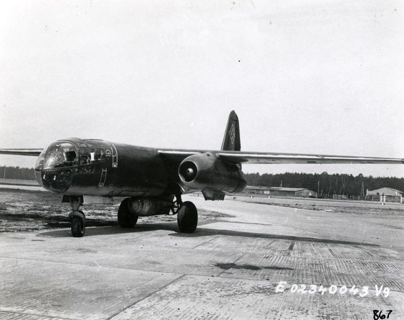 Arado Ar 234 German World War II jet bomber made by Arado.