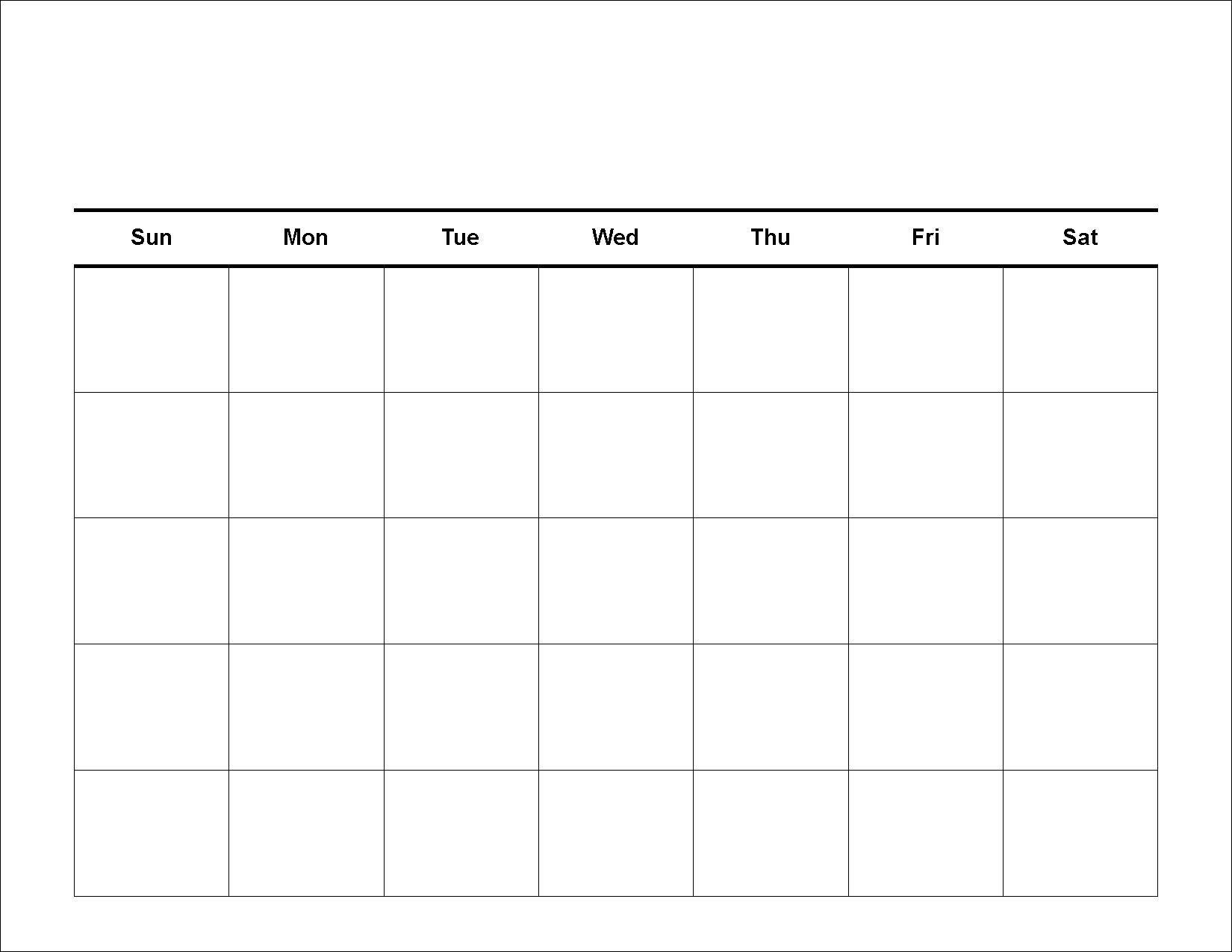 Free Printable Schedule Blank Calendar