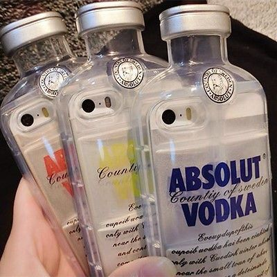 Luxury 3D Crystal Clear Absolut Vodka TPU bottle Case Cover For ...