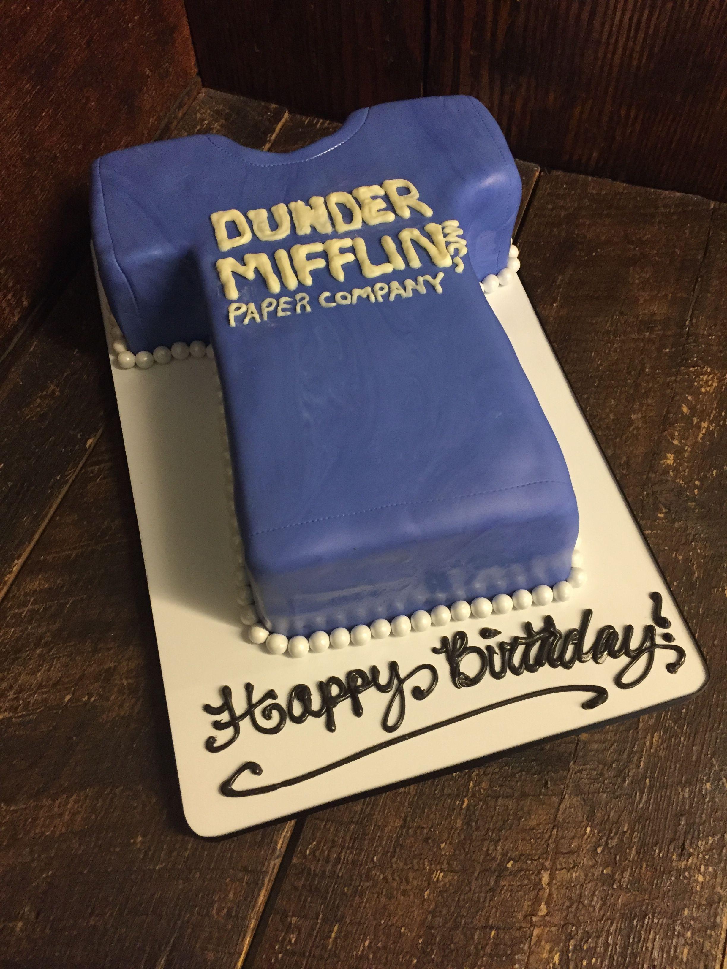 Dunder Mifflin Birthday Cake The Office Pinterest Cake
