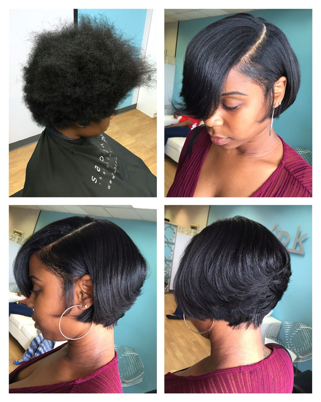 Short bob  Short bob hairstyles, Straightening natural hair