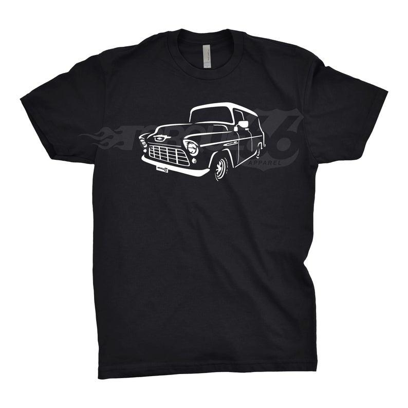Classic Car Shirt of 1955 GMC Truck, Car Enthusiast, 1955 GMC Panel Truck, Gift, 1955 1956 1957 GMC Shirt