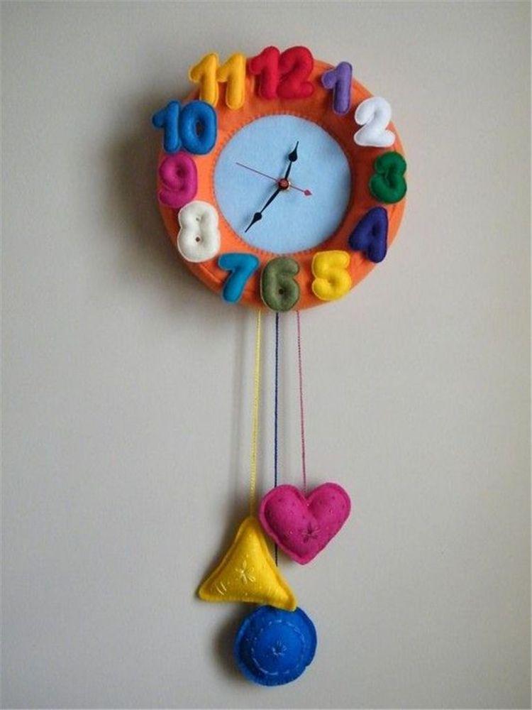 Unique Wall Clock Designs Ideas Diy Clock Ideas Creative Diy Clock Ideas Homemade Diy Clock Ideas For Kids Diy Clock Wall Clock Design Felt Decorations