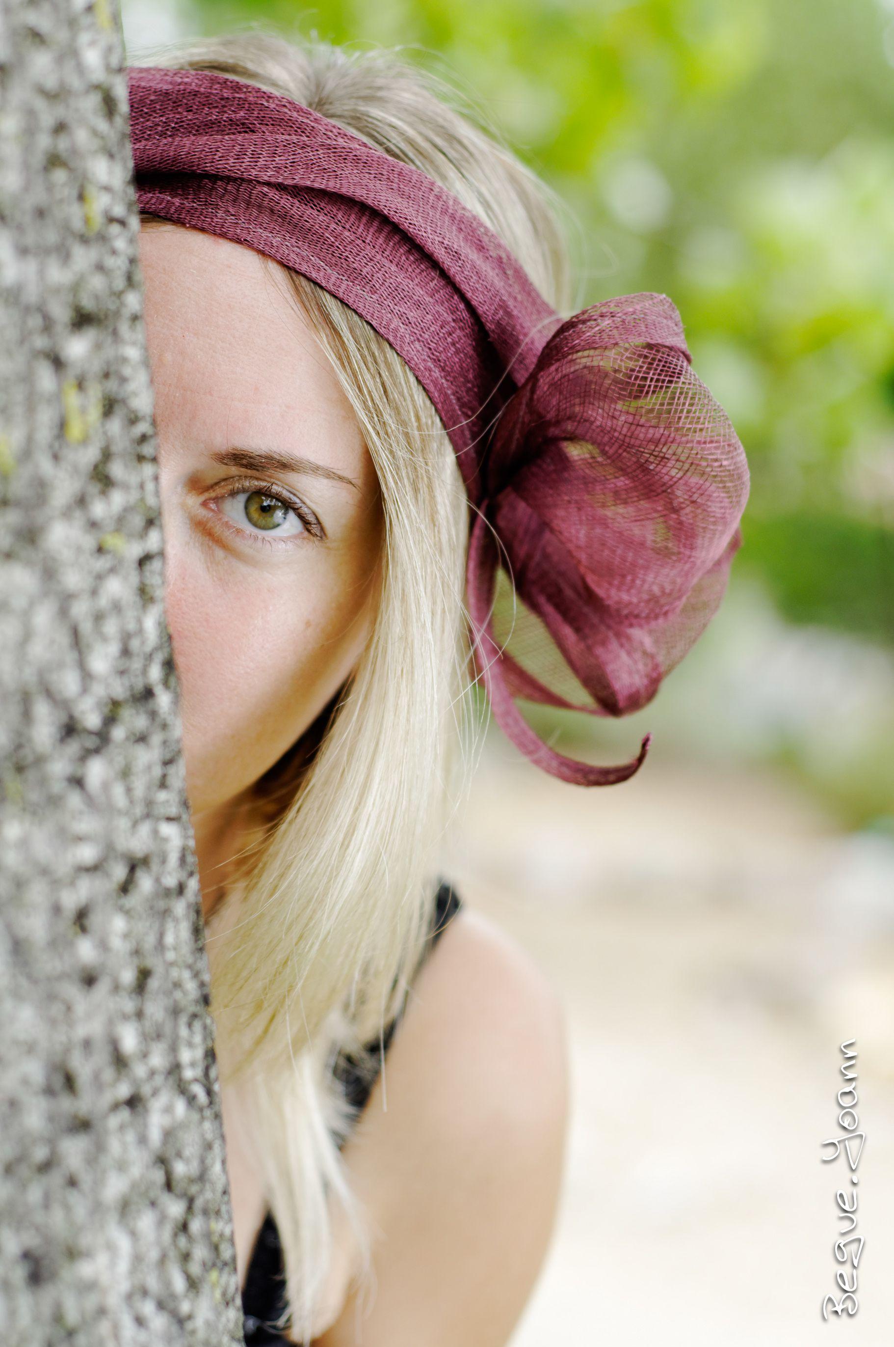 Bandeaux de cérémonie prune - Lady Chapearly Photographie : Studio Graou