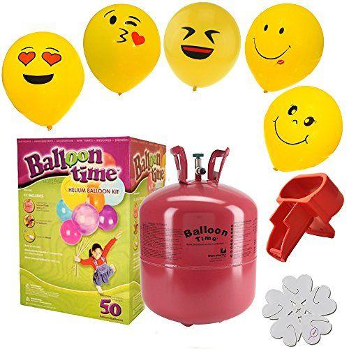 Disposable Helium Tank Emoji Balloons Kit