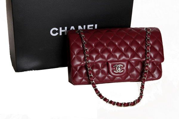 5138672fc2d0 Chanel 2.55 Series Original Leather Classic Flap Bag A01112 Burgundy ...