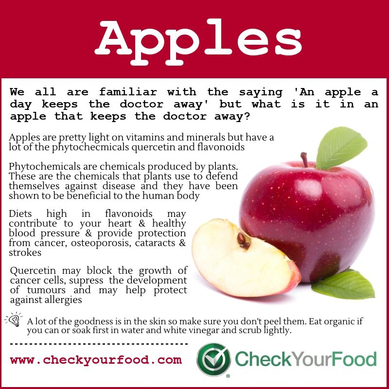 The Health Benefits Of Apples Check Your Food Fruit Benefits