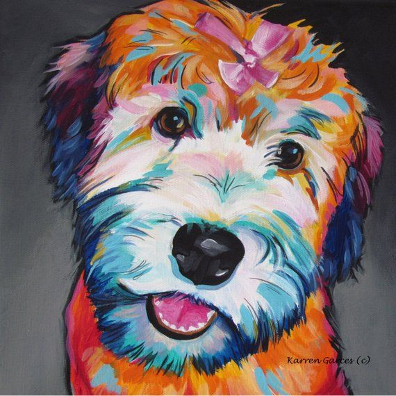 Wheaten Terrier And Goldendoodle Wall Decor Wheaten Terrier
