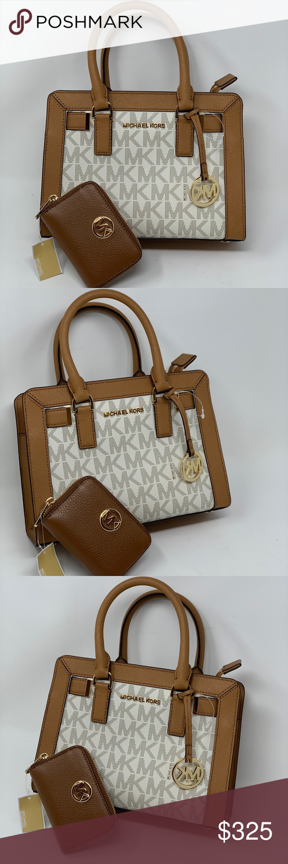 7d4c5e75c93d Michael kors small Dillon satchel bag+wallet set Michael Kors - MK Dillon  Monogram Small