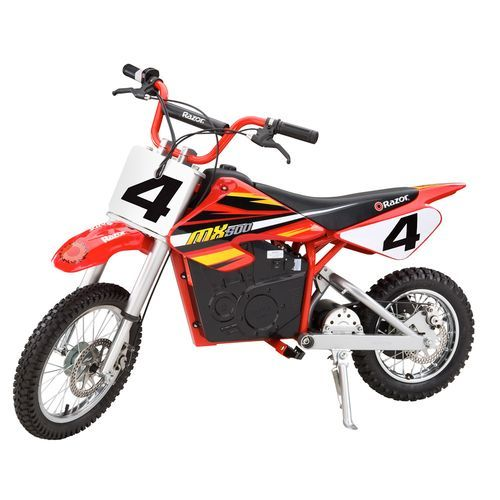 The Razor Youth Dirt Rocket Mx 500 Electric Dirt Bike Features