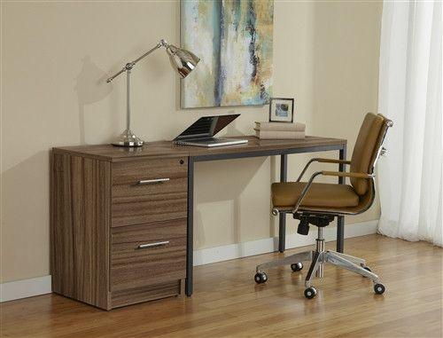modern walnut desk with included locking file cabinet desks pinterest desks and modern