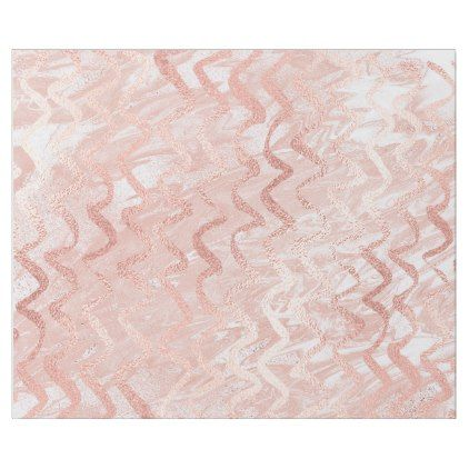 Pink Rose Gold Glass Zig Zag Stripes Lines Marble Wrapping Paper - lines paper