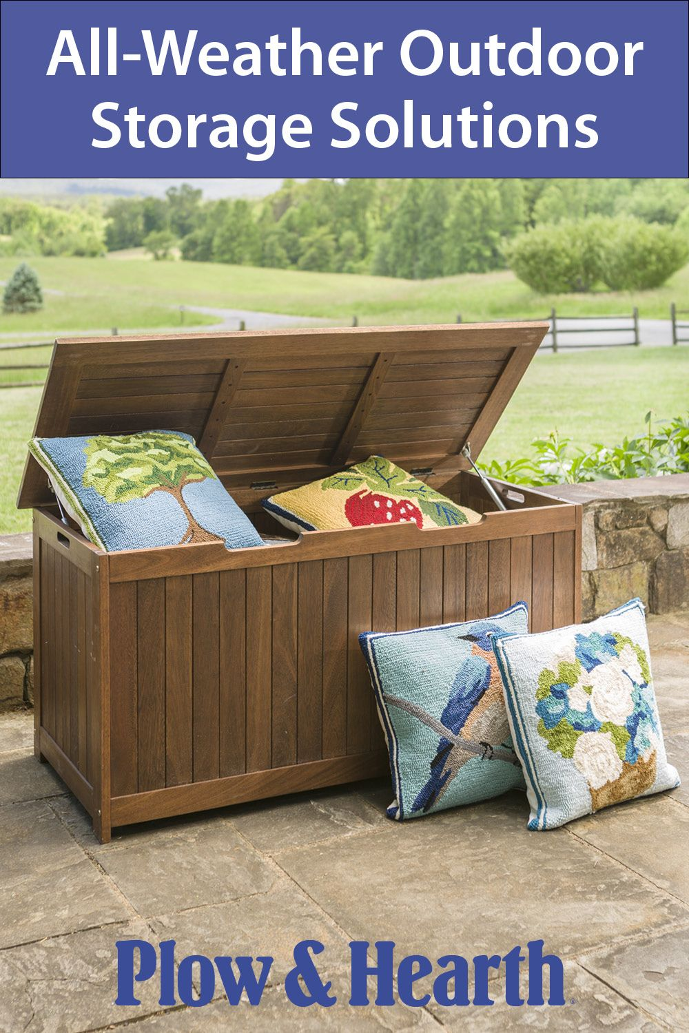 A Place For Everything And Everything In Its Place Outdoor Storage Solutions Wood Patio Furniture Outdoor Wood Furniture