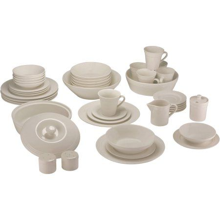 10 Strawberry Street Atlas 45-Piece Ivory Porcelain Dinnerware and Serveware Set - Walmart.com  sc 1 st  Pinterest & 10 Strawberry Street Atlas 45-Piece Ivory Porcelain Dinnerware and ...