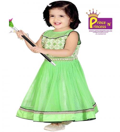 Kids Light Green Cute Party Amp Birthday Frock Buy Online